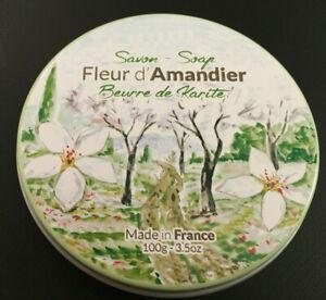 Seife Schmuckdose Le jardin Rose Lavendel Mandel Eisenkraut Olivenöl Sheabutter
