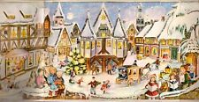 Vintage 3D Advent Christmas Calendar Sellmer Stuttgart Rohr West Germany Rahlwes