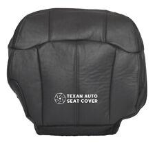 1999 2000 Chevy Silverado 1500HD Passenger Bottom Leather Seat Cover Dark Gray