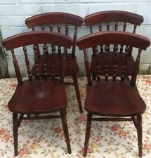 4 ANTIQUE VINTAGE WOODEN DINING CHAIRS