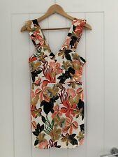 Zara Floral Cut Out Detail Playsuit Size M