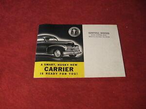 1946 Hudson Big Boy Pickup Truck Sales Brochure Catalog Booklet Book Original
