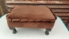 small brown foot stool