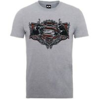 Rockoff Trade Men's Batman V Superman Gothic Logo T-shirt, Grey, Medium - Grey