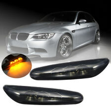 Side Marker Light Turn Signal Black LED For BMW E60 E61 E82 E88 E90 E91 E92 E93