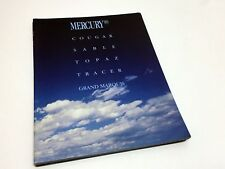 1989 Mercury Tracer Grand Marquis Topaz Cougar Sable Full Line Brochure