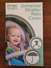 RAIN COVER PUSHCHAIR STROLLER BUGGY PRAM CLEAR DURABLE PVC TRAVEL UNIVERSAL NEW