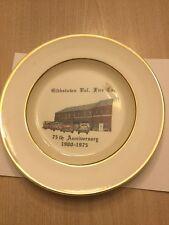 1900-1975 Gibbstown New Jersey Fire Department Plate Fire Truck Firemen Dish