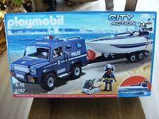 Polizeit-Truck mit Speedboot und Unterwassermotor 5187 von Playmobil