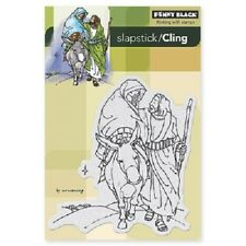 PENNY BLACK RUBBER STAMPS SLAPSTICK CLING FROM BETHLEHEM NEW cling STAMP