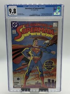 """Adventures of Superman #424 CGC 9.8 White Pages 1st Appearance """"Cat"""" Grant"""