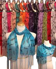 Wholesale 12pc LOT Polyester Shawl Long Scarf Stole Wrap Women scarves mustache
