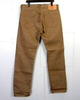 vtg 90s Levis 501XX Button Fly Light Brown MINTY Denim Jeans Blank Tab 36 X 34