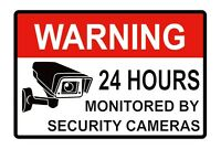 5 CCTV Video Surveillance Security Camera Alarm Sticker Warning Decal Signs hot
