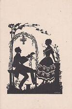 Postkarte - Schattenbild von E.Trebicky