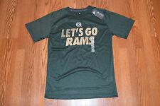 Nwt Mens Knights Apparel Colorado State Rams Green Active Ncaa T-Shirt M