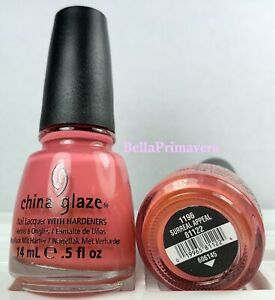 China Glaze Nail Polish Surreal Appeal 1196 Neon Coral Pink Creme Lacquer