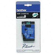 "Brother 1/2"" (12mm) Black on Green P-touch Tape for PT15, PT-15 Label Maker"