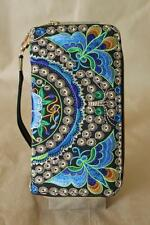 Limited edition of Embroidered Vintage Tribal BOHO wallet clutch purse Butterfly