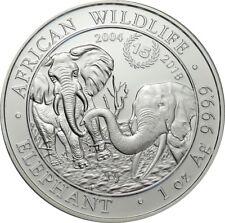 100 shillings 2018-somalia-African Wildlife Elephant-aniversario - 1 Oz AG