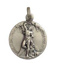 Médaille d'argent Massif 925 du Saint-Sébastien - Trouvez votre saint patron