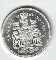 CANADA 1962 50 CENT HALF DOLLAR QUEEN ELIZABETH CANADIAN .800 SILVER COIN