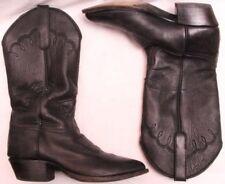 e4b9d5c785784 Larry Maham 4470 Black Soft Leather Pull On Western Cowboy Boot Men s U.S.  ...