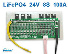 24V 25.6V 100A LiFePo4 Battery BMS LFP PCM SMT System 8S 3.2V eBike Battery 8x3V