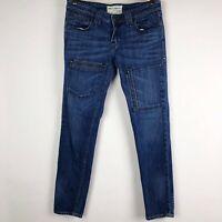 Jimmy Taverniti Jeans Denim Air Anti-Exposure Slim Skinny Pockets Ankle Size 29
