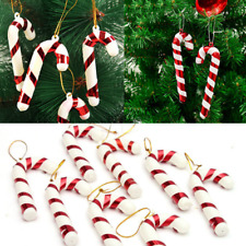 12 Xmas Tree Red Candy Cane Hanging Ornament Decoration Christmas Home Party