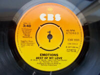 """Emotions - Best Of My Love    [ Greece 1977 Mint Vinyl 7"""" Single Soul Disco ]"""