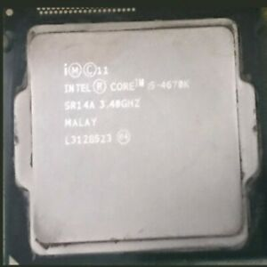 Intel i5 4670K processore Core (Cache 6M, 3.4GHz) LGA1150 4th Gen Processore CPU