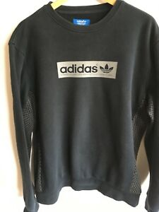 ADIDAS ORIGINALS MENS L LARGE 42-44 BLACK SWEATSHIRT JUMPER TOP