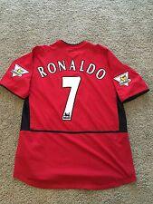 Manchester United Home Camicia 2003/04 Adulti grandi dimensioni (L) RONALDO 7 Nike Jersey