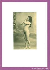 PHOTO FEMME, NU ARTISTIQUE, NUDE, VINTAGE CIRCA 1920, FORMAT 16,5 X 10,5 cm -J11