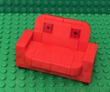 Lego MOC Red Sofa Couch Recliner Convertible Home Interior Furniture