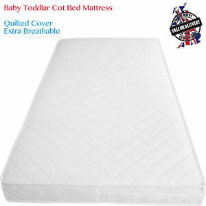 Baby Cot Bed Mattress Junior Breathable Foam Cot Mattres Waterproof Zipped Cover