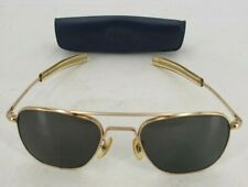 Vintage American Optical FG-58 Gold Tone Pilots Aviator Sunglasses With Case