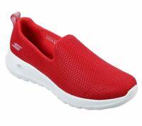 Skechers Shoes Red Go Walk Joy Women Sport Soft Casual Slipon Comfort Mesh 15600