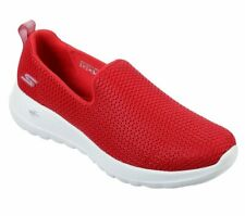 Skechers Shoes Red Go Walk Joy Women Sport Soft Casual Slipon Comfort Mesh 15600