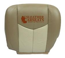 2003-2006 GMC Yukon Denali Driver Bottom Synthetic Leather Seat Cover 2 Tone Tan