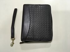 Compact Franklin Covey Brown Nappa Leather 1 14 Rings Zippered Planner Binder