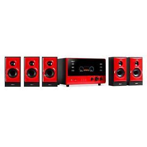 Heimkino System 5.1 Lautsprecher Surround Sound Anlage Hifi Boxen SD USB UKW AUX