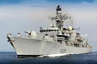 ROYAL NAVY HMS LANCASTER AT SEA 8x12 SILVER HALIDE PHOTO PRINT