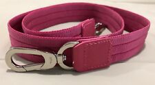 LONGCHAMP CANVAS BAG SHOULDER STRAP PINK/SILVER  NWOT
