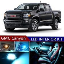 12pcs LED ICE Blue Light Interior Package Kit for GMC Canyon 2015-2017