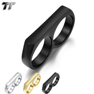 High Quality TT 316L Stainless Steel Double Band Ring (RZ178) NEW