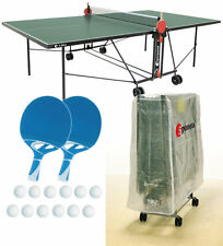 Tischtennisplatte outdoor SPONETA S 1-42 e grün im Set mit Hülle u Schlägerset