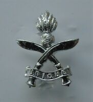 British Army Queens Gurkha Engineers Silver Anodised Cap Badge