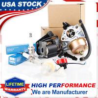 Recoil Carburetor Ignition Coil Kit Spark Plug Air Filters For Honda GX390 GX340
